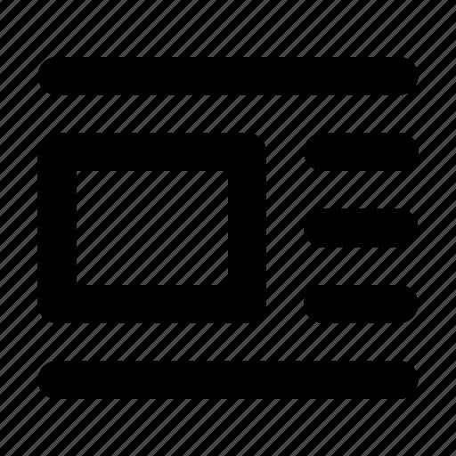 image, overflow image, text icon