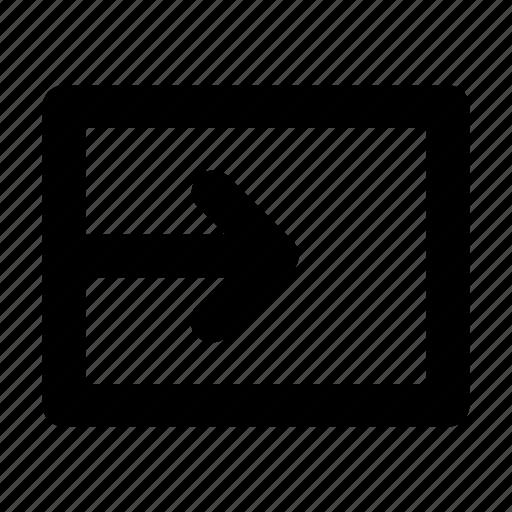 box, input, insert icon