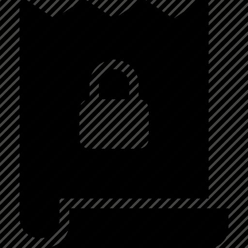 bill, commerce, ecommerce, lock icon