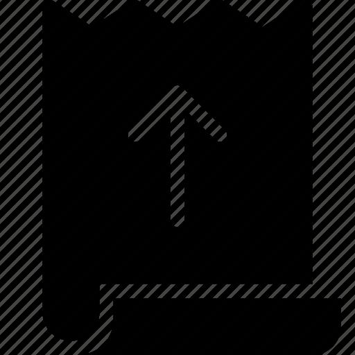 bill, commerce, ecommerce, upload icon