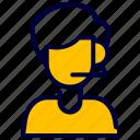 admin, avatar, costumer, delivery, help, man, service icon