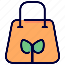 bag, eco, ecology, green, leaf, recycle icon
