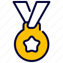 achievements, award, education, gold, medal, stars