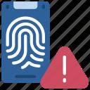 biometrics, error, virus, thumb, print, warning