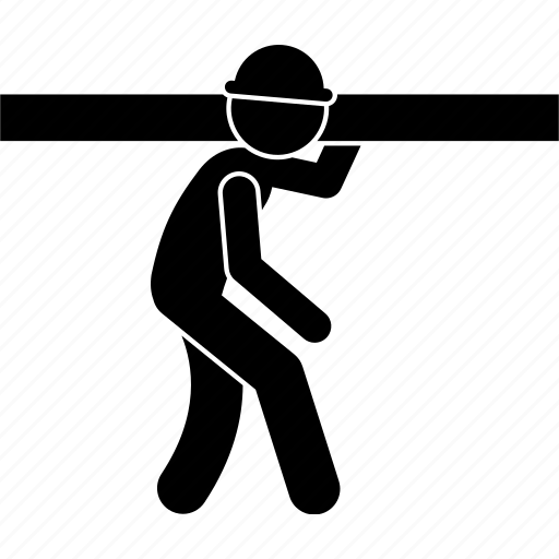builder, carrying, construction, object, worker icon