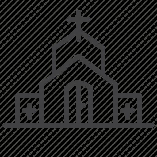 architecture, building, chapel, church, city icon