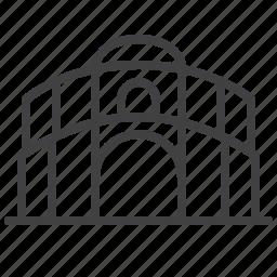 architecture, arena, building, city, sport icon