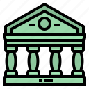 bank, banking, buildings, finance icon