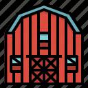 barn, building, farm, farming, gardening icon