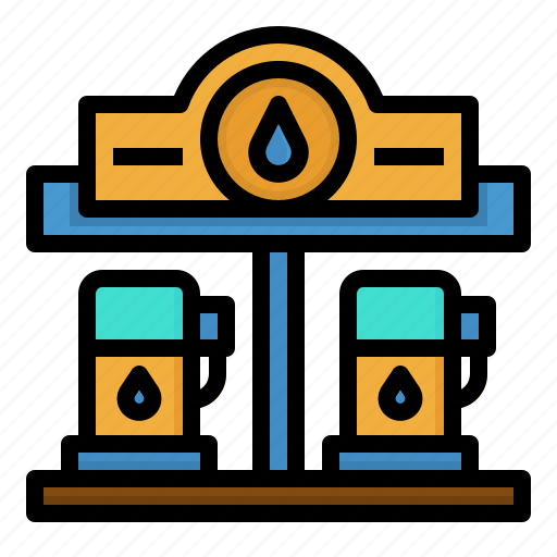 fuel, gas, petrol, power, station icon