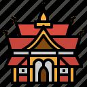 asia, landmark, temple, thailand, wat icon