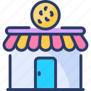bake, bakery, cereal, confectionery, food, house, shop