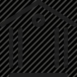build, building, design, line icon