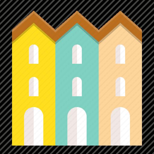 architecture, building, city, town icon