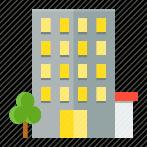 architecture, building, city, condo, town icon