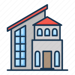 apartment, building, house, real estate icon
