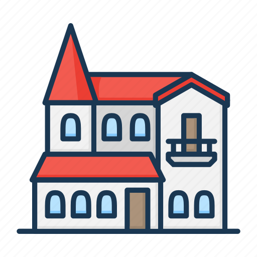 apartment, building, church, house, real estate icon