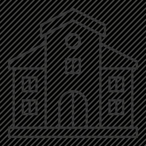 architecture, building, city, school, town, university icon