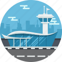 airport, building, control, tower icon