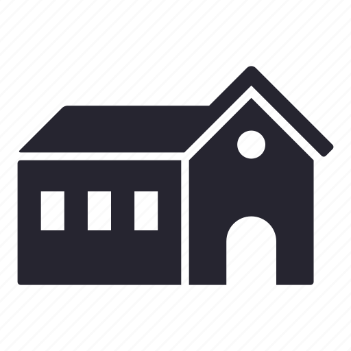 apartment, building, estate, hall, home, house icon