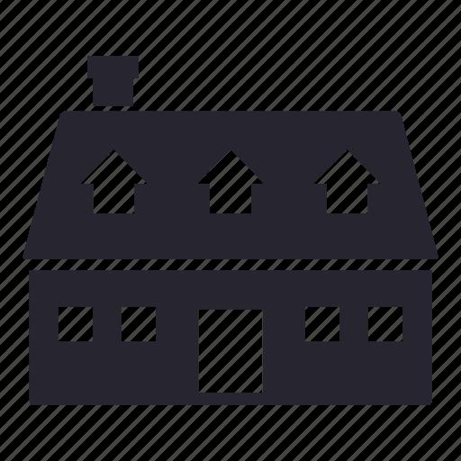 apartment, building, estate, family, garden, home, house icon