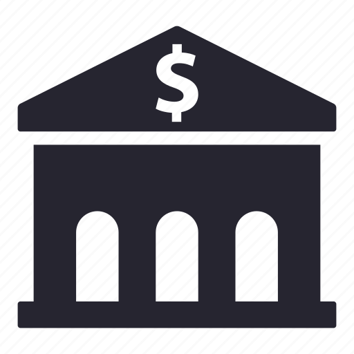 bank, banking, building, finance, money icon
