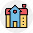 building, commercial building, home, house, modern building, real estate icon