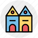 building, castle, castle building, castle tower, fortress, medieval icon