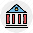 bank, building, court, court building, courthouse, institute icon