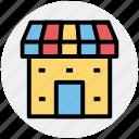 building, institute building, market, marketplace, shop, store icon