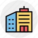 building, city building, flats, hotel, skyscraper icon