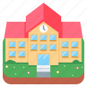 building, college, construction, school icon