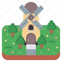 building, mill, tower, windmill icon