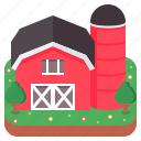 barn, building, farm, silo, storehouse icon