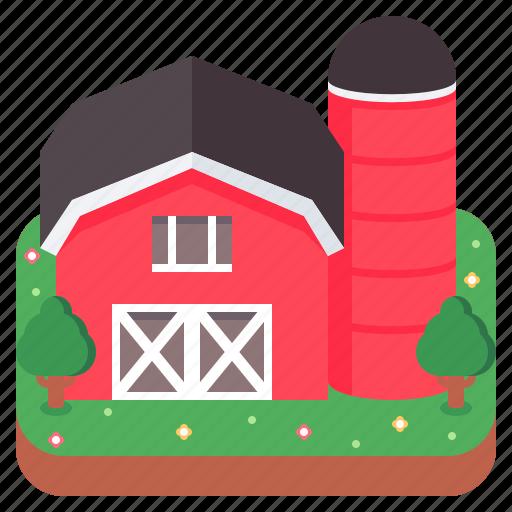barn, building, farm, silo, storehouse icon