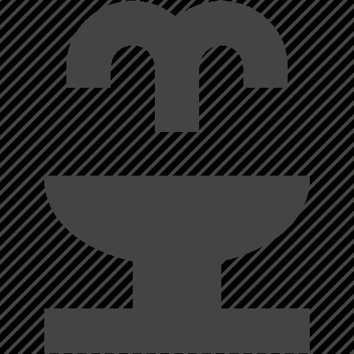 architecture, fountain, water icon