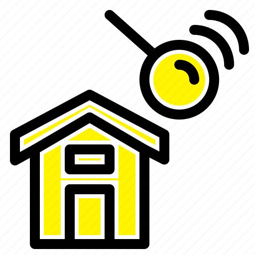 city, construction, house, search icon