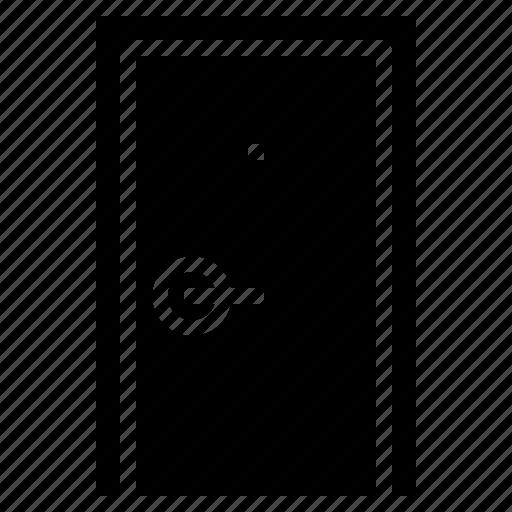 aperture, buildings, door, exit, filled, open, opened icon