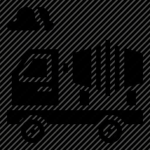 concrete, construction, mixer, tools, transportation, truck icon