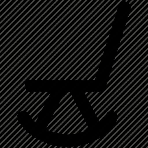 chair, furniture, rocker chair, rocking chair, room chair, wood chair icon