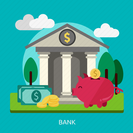bank, building, construction, economy, money, savings icon