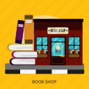 book, building, construction, shop icon