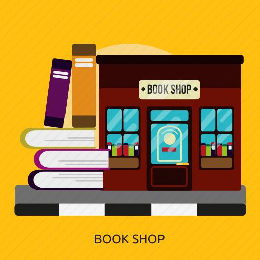 book, building, construction, shop icon