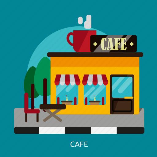 building, cafe, construction, dessert, drinks, food, menu icon