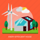 building, construction, efficient, energy, house icon