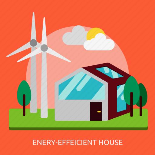 building, construction, efficient, energy, house icon