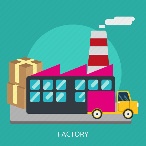 building, construction, factory, industry, refinery, smoke icon