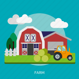 agriculture, building, construction, farm, field, harvest, windmill icon