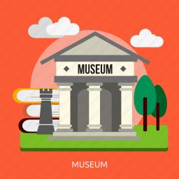 art, building, construction, exhibition, gallery, museum icon