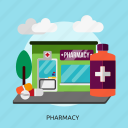 building, construction, health, healthcare, medicine, pharmacy, science icon